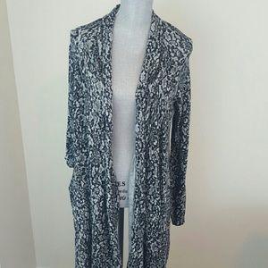 Moda black and gray paisley cardigan